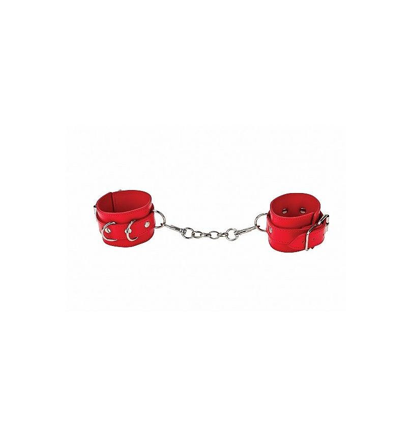 Leather Cuffs rouge